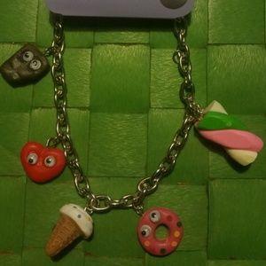 Cute Fun Food Desert Candy Charm Bracelet